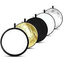 Pannello Riflettente Portatile Pieghevole Rotonda Multi-disco Riflettore ESDDI 108cm 5 in 1 Richiudibile, per Studio Fotografico o Fotografia in Esterno
