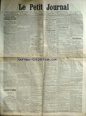 PETIT JOURNAL (LE) [No 15004] du 25/01/1904 - LES LEGS DE LA PRINCESSE MATHILDE - ASSASSINEE DANS LA FORET DE FONTAINEBLEAU - LE VICE-AMIRAL GOURDOU ET LES SECONDS MAITRES MECANICIENS BARRAU ET BACHER - LA CATASTROPHE D'AALESUND - LE DENTISTE ET LES BONNETEURS - M. REGNAULT DE PARIS.