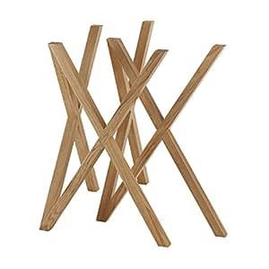 h+h furniture Mika Tischbock 2er-Set (ohne Tischplatte