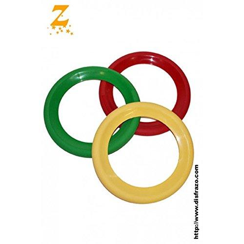 Generique - Jonglier-Ringe Clown 3 Stück bunt