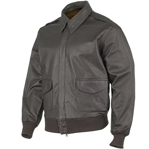 US Leather A2 Army Mens Bomber Flight Crews Jacket for sale  Delivered anywhere in UK
