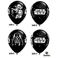 Star Wars Black 11 Latex Balloons - Package of 12 by Qualatex