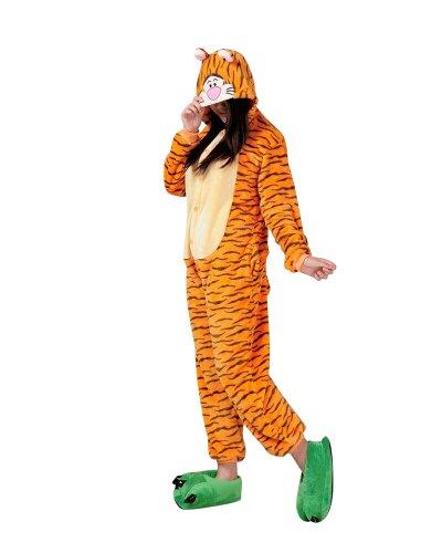 Erwachsenen Halloween Tiger Kostüme (Keral Kigurumi Pyjama Erwachsene Anime Cosplay Halloween Kostüm)