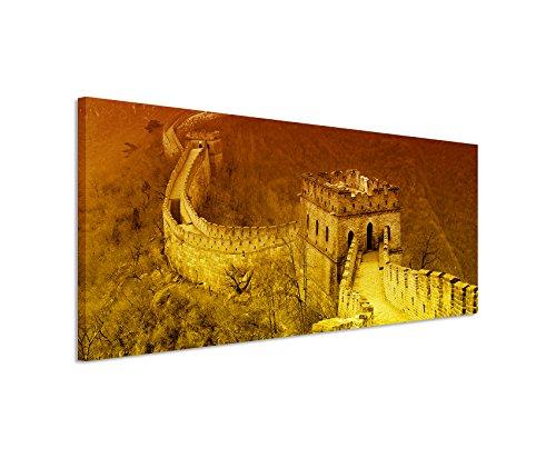 Stampa su tela, soggetto: panorama su Grande Muraglia e Monti Metalliferi, dimensioni: 150x 50cm