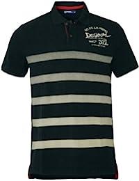 DESIGUAL Herren Designer Top Polo Shirt - MAYFLOWER -
