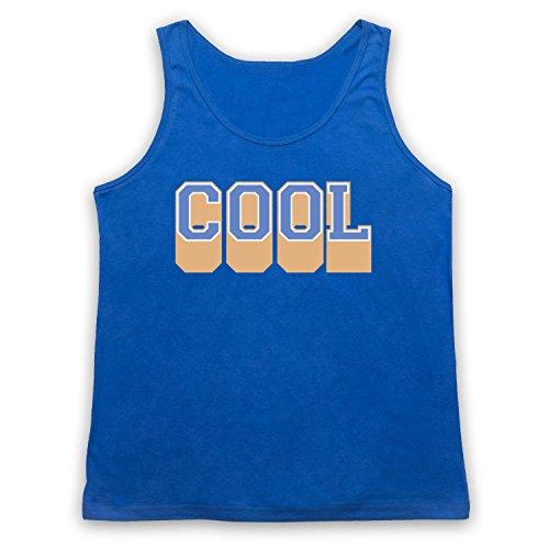 Cool Hipster Tank-Top Weste Blau