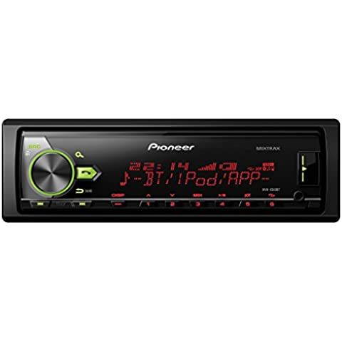 Pioneer MVH-X580BT - Dispositivo estéreo (AM/FM, Bluetooth, USB , Spotify, 4 x 500 W), negro