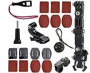ShipeeKin - Supporto per casco da moto compatibile con GoPro Hero 8/7/6/5/4 4+ 3 serie e altre Action Cam