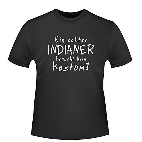 Indianer Kostüm, Herren T-Shirt - Fairtrade - ID104451 Schwarz