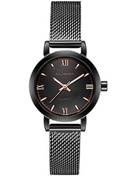 originaltree Fashion Frauen Wasserdicht Edelstahl-Quarz-Uhr Mesh Band Analog Armbanduhr