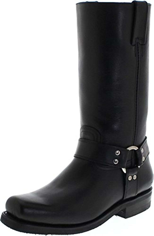 FB Fashion Boots Primeboots 44330 Pull up Black Lederstiefel für Damen und Herren Schwarz BikerstiefelFashion Boots 44330 Pull Lederstiefel