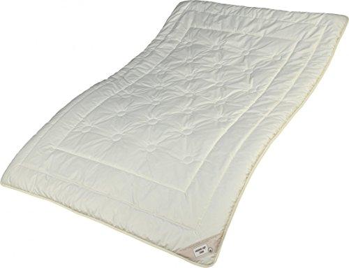 Garanta Zirbe Bettdecke 135 x 220 cm - Warmes Duo-Steppbett - Füllung KBA Merino Schafschurwolle und Zirbenholz Spänen - Übergröße