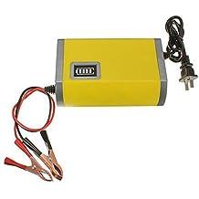 Cargador de bateria - YOUXIN 12V 6A ATV BARCO cargador inteligente de bateria de maquina de coche y motocicleta Amarillo