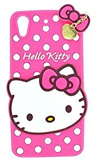 Rapid Zone Cute Hello Kitty Back Cover for HTC Desire 728 - Pink