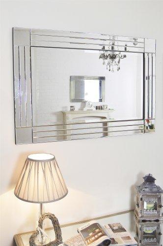 Modern Silver Bevelled Triple Edge Modern Venetian Mirror 3ft11 x 2ft8 (120cm x 80cm)