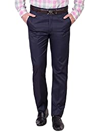 ROCKSY Men s Regular fit Formal Trouser Poly Cotton Fabric Wrinkle Free  Pants   4 Colours  f81df82f8b3