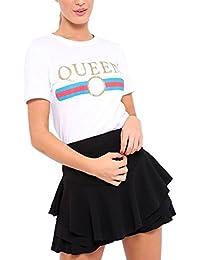Rewatronics - Camiseta - camisa - Manga corta - para mujer
