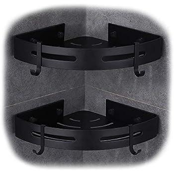 hoomtaook eckablage duschkorb duschablagen ohne bohren f r. Black Bedroom Furniture Sets. Home Design Ideas