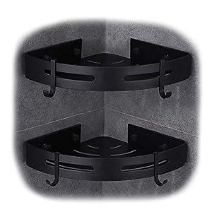 Hoomtaook Duschregal Eckablage Duschkorb Duschablagen Ohne Bohren für Bad, Space Aluminium, Matte Finish, Badregal, 2…