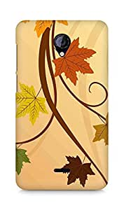 Amez designer printed 3d premium high quality back case cover for Micromax Unite 2 A106 (Thanksgiving fall leaf)