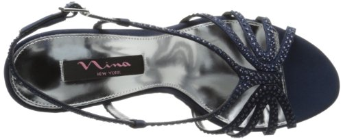 Nina Womens Bobbie LS Dress Sandal,Navy,8 M US Navy