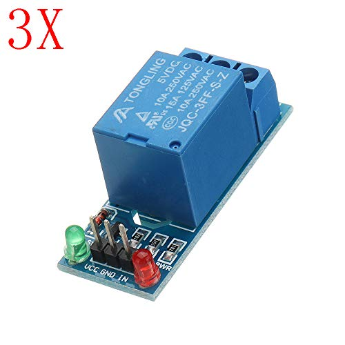 ILS - 3 Stücke 5V Low-Level-Trigger EIN 1-Kanal-Relais-Modul Interface Board Schild DC AC 220 Relais-interface-modul