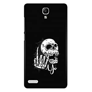 CrazyInk Premium 3D Back Cover for Xiaomi Redmi Note Prime - Yo Skull