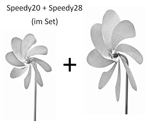 A1040 - steel4you Windrad-Set aus Edelstahl: Speedy20