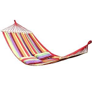 Songmics 240 X 150 cm Hamac/chaise avec 2 oreillers GDC22W (couleurs à choisir)