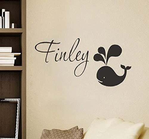 Wandtattoo Kinderzimmer Wandtattoo Wohnzimmer Personifizierter Namenswal-zwei Ton-Jungen-Mädchen-Babyschlafzimmer-Kindergarten -