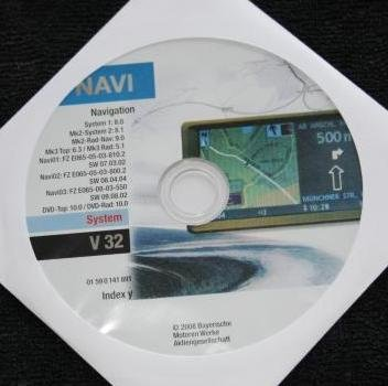 Software Update CD V32 für BMW Navigation MK1, MK2, MK3, MK4 (für 3D Ansicht) (Bmw Navigation Cd)