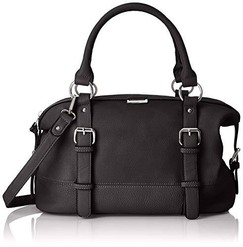TOM TAILOR Handtasche Damen, Juna, Schwarz, 35x19x14 cm, Bowling Tasche