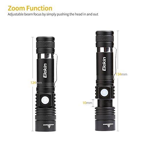 Zoom IMG-2 elekin torcia led ricaricabili 1000