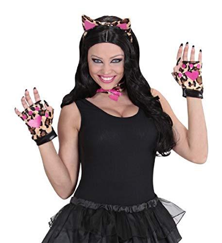 MKS Dress Up Set Accessoire 3 teilig - Ohren, Halsband & Handschuhe - für Motto-Partys, Hasenkostüm und Cosplay ()