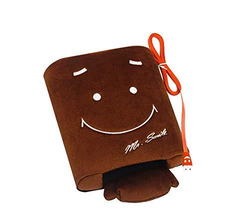 OFKPO Cojín de ratón Sonriente - Sonriente de la Mano de ratón del Calentamiento del USB (Marrón)