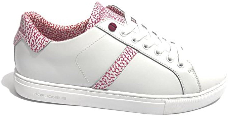 Borbonese Zapatillas Para Mujer Bianco/Op Fuxia