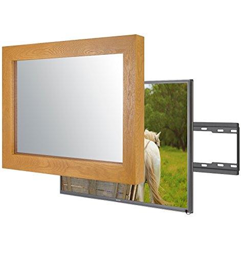 Handgemacht Eingerahmter Spiegel TV mit LG 32LH604V um diesen versteckt Verspiegelten Fernseher in Ihrem Zuhause oder Ihrer Business Ausstattung zu integrieren (32 Zoll, Flatenium Original)