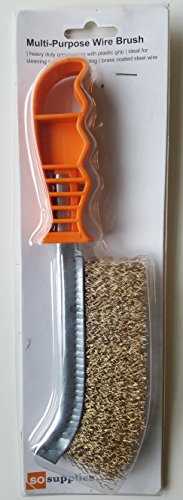 SoSupplies Hand Wire Brush With Plastic Handle . Heavy Duty . Diy Tool . Paint, Rust Remover Test