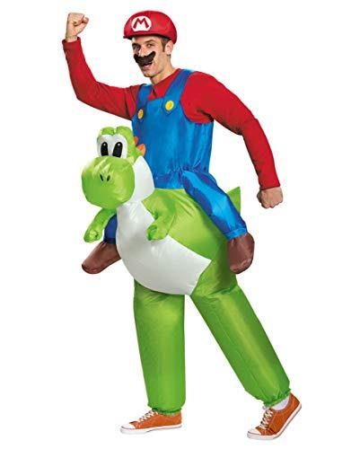 Horror-Shop Aufblasbares Super Mario Kostüm mit Yoshi