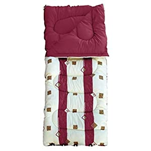 41sGQ6xddnL. SS300  - Royal   Unisex Outdoor Umbria Burgundy Sleeping Bag available in Burgundy - 60oz
