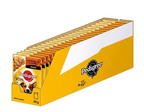 Pedigree Vital Protection Hundefutter mit Truthahn und Karotten in Sauce, 24 Beutel (24 x 100 g)