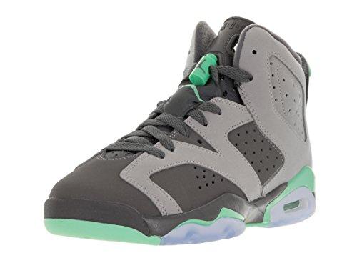 Nike Mädchen Air Jordan 6 Retro Gg Basketballschuhe Gris (Gris (Cmnt Gry / Grn Glw-Drk Gry-Grn G))