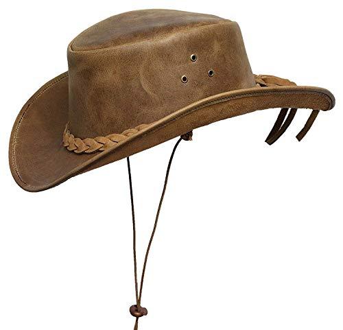 ntage Breiter Rand Cowboy Aussie Stil Western Bush Hut Vintage (S, Bräunen) ()