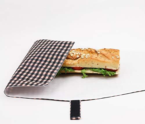 Lunchtüte Wiederverwendbar. Stullentasche. Wasserabweisend. Umweltfreundlich. Picknick Tasche