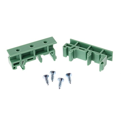 Gwxevce PiecesB 35mm DIN Rail Mounting Adapter Circuit Board Bracket Holder Carrier Clips -