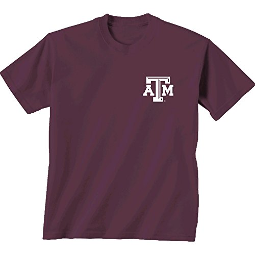 New World Grafiken Texas A & M NCAA Team Madras Short Sleeve, Unisex, Texas A&M Team Madras, Cc Berry Texas A&m University Atm