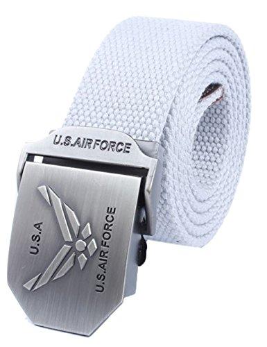 menschwear-mens-adjustable-cotton-canvas-belt-metal-buckle-military-style-45-120cm-light-grey
