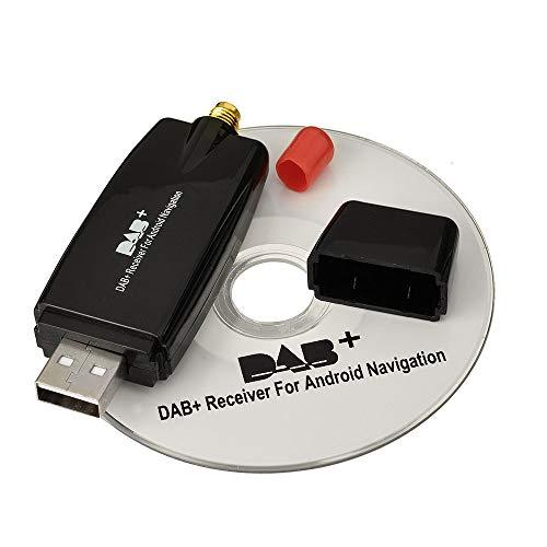 Eightwood DAB+ Stick USB 2.0 Digital Radio Tuner Empfänger für Android 4.0 Auto DVD Spieler Stereo USB DAB Autoradio MEHRWEG - Auto Dab Stereo