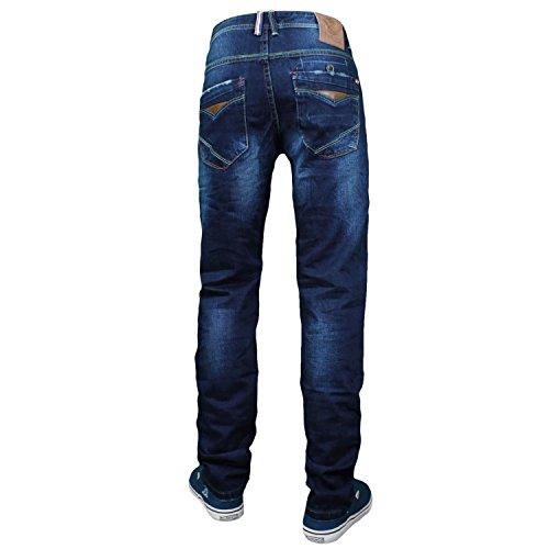 Herren Jeans Hose Fit Blau Denim Blau