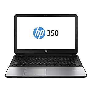 HP 350 F7Y54EA 39,62 cm (15,6 Zoll) Business Notebook (Intel core i3-4005U, 1,6GHz, 4GB RAM, 750GB HDD, Windows 7 Professional) schwarz